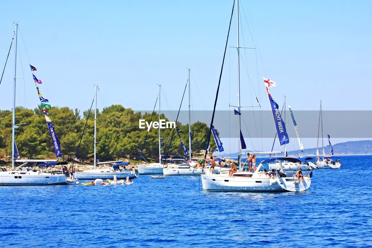 nautical vessel, transportation, mode of transport, water, boat, sea, sailboat, mast, day, outdoors, nature, blue, sky, moored, sailing, beauty in nature, no people, scenics, tree, clear sky