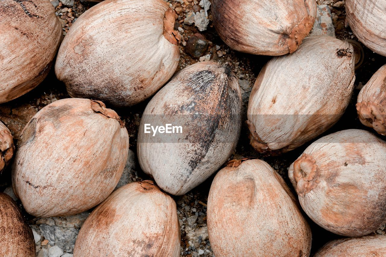 food and drink, food, full frame, backgrounds, healthy eating, freshness, wellbeing, large group of objects, no people, close-up, abundance, still life, nut, nut - food, vegetable, day, directly above, brown, market, high angle view