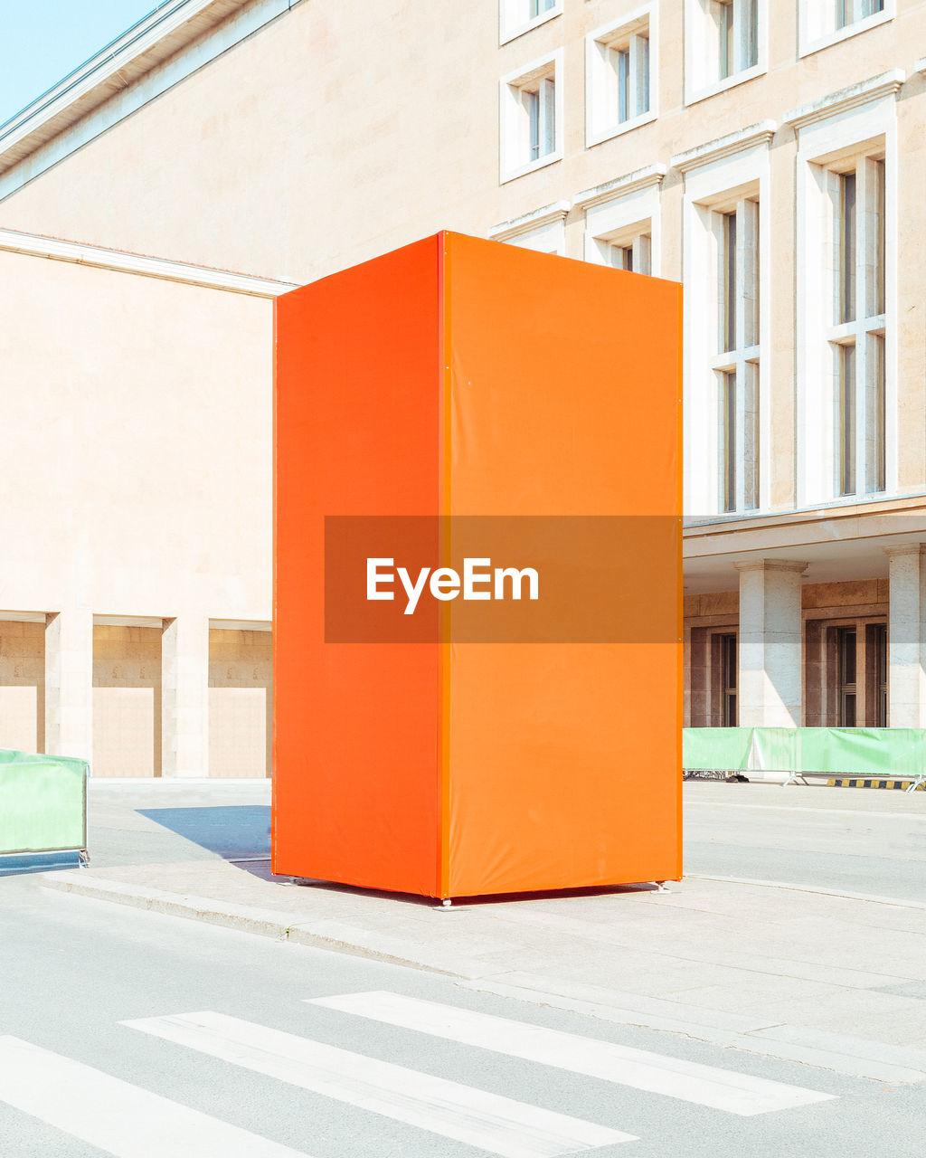 Orange built structure outdoors