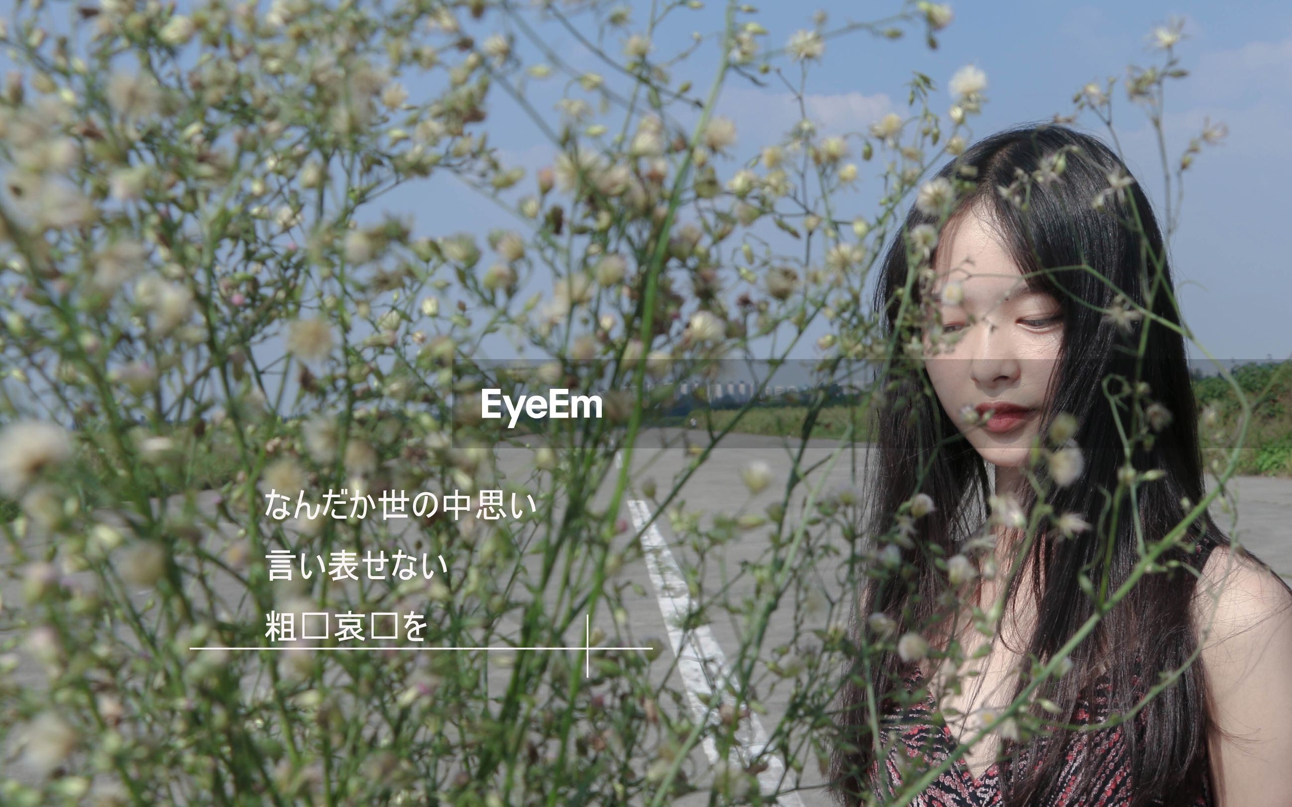 flower, focus on foreground, person, leisure activity, lifestyles, young adult, sunglasses, young women, looking at camera, growth, nature, casual clothing, front view, beauty in nature, plant, field, day, freshness, summer, fragility, sky