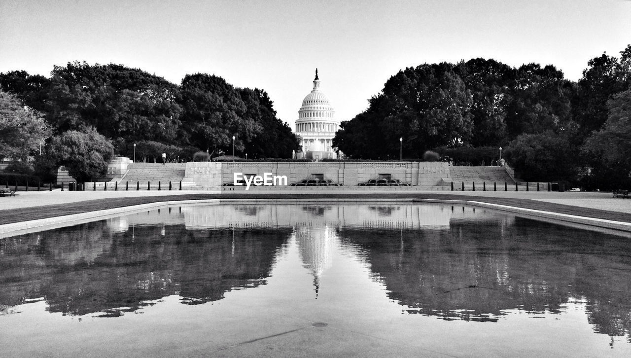 View of capitol reflecting pool