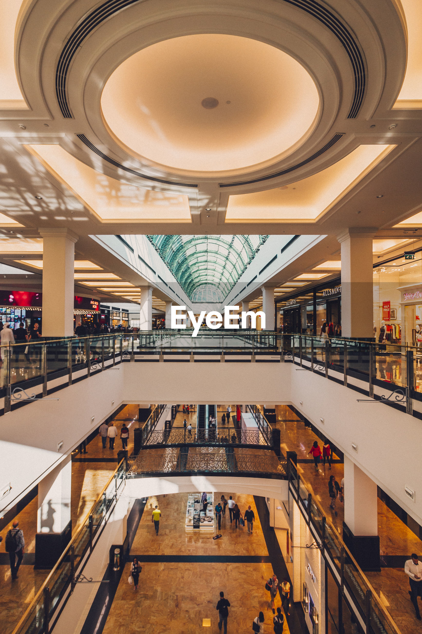 High angle view in shopping mall