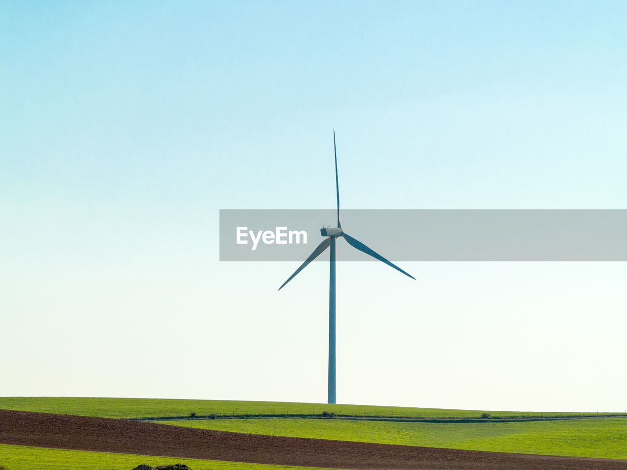 environment, turbine, sky, renewable energy, alternative energy, wind turbine, environmental conservation, fuel and power generation, landscape, wind power, field, clear sky, copy space, land, nature, rural scene, blue, no people, technology, grass, sustainable resources, outdoors, power supply