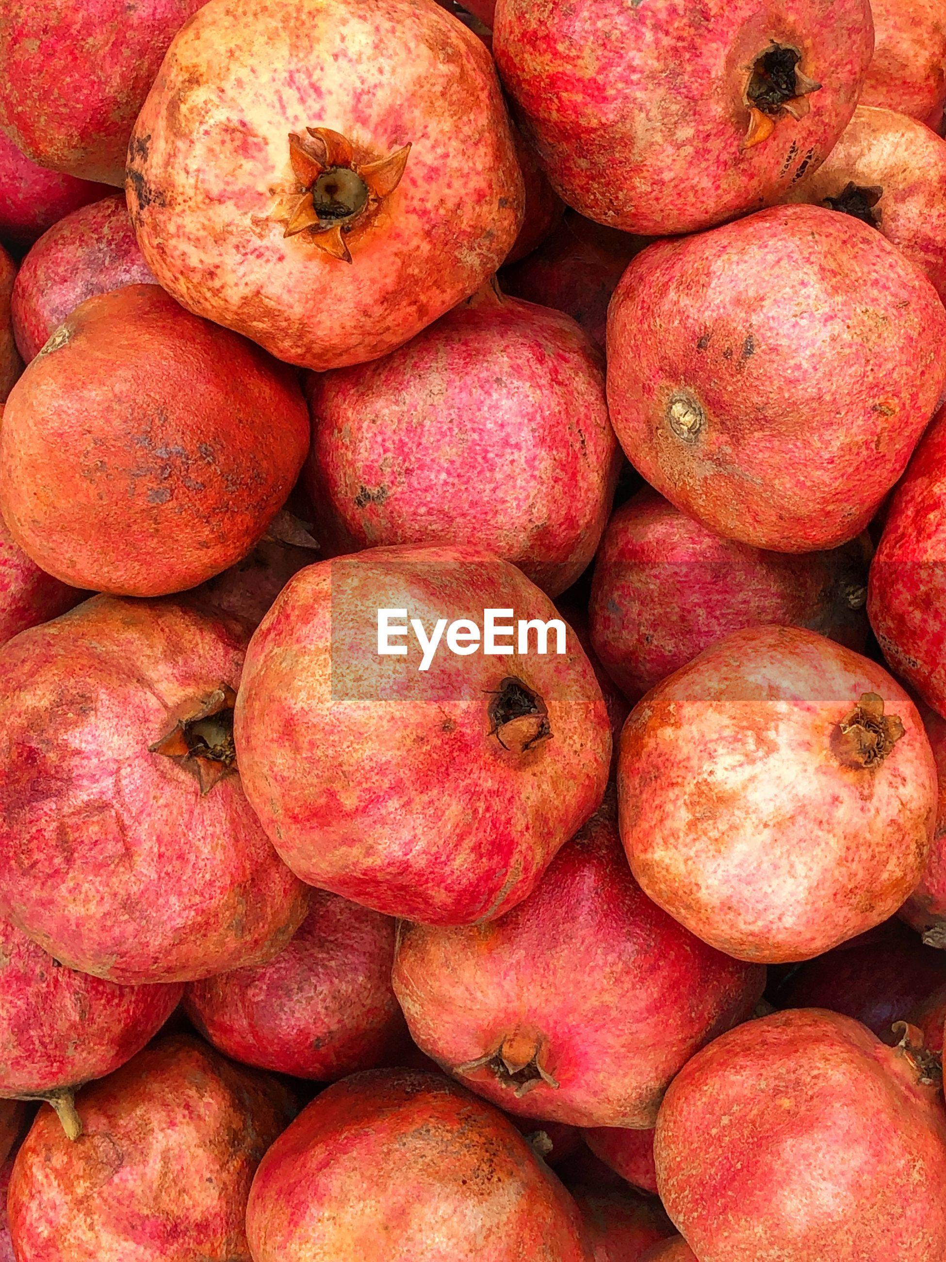 Full frame shot of pomegranate