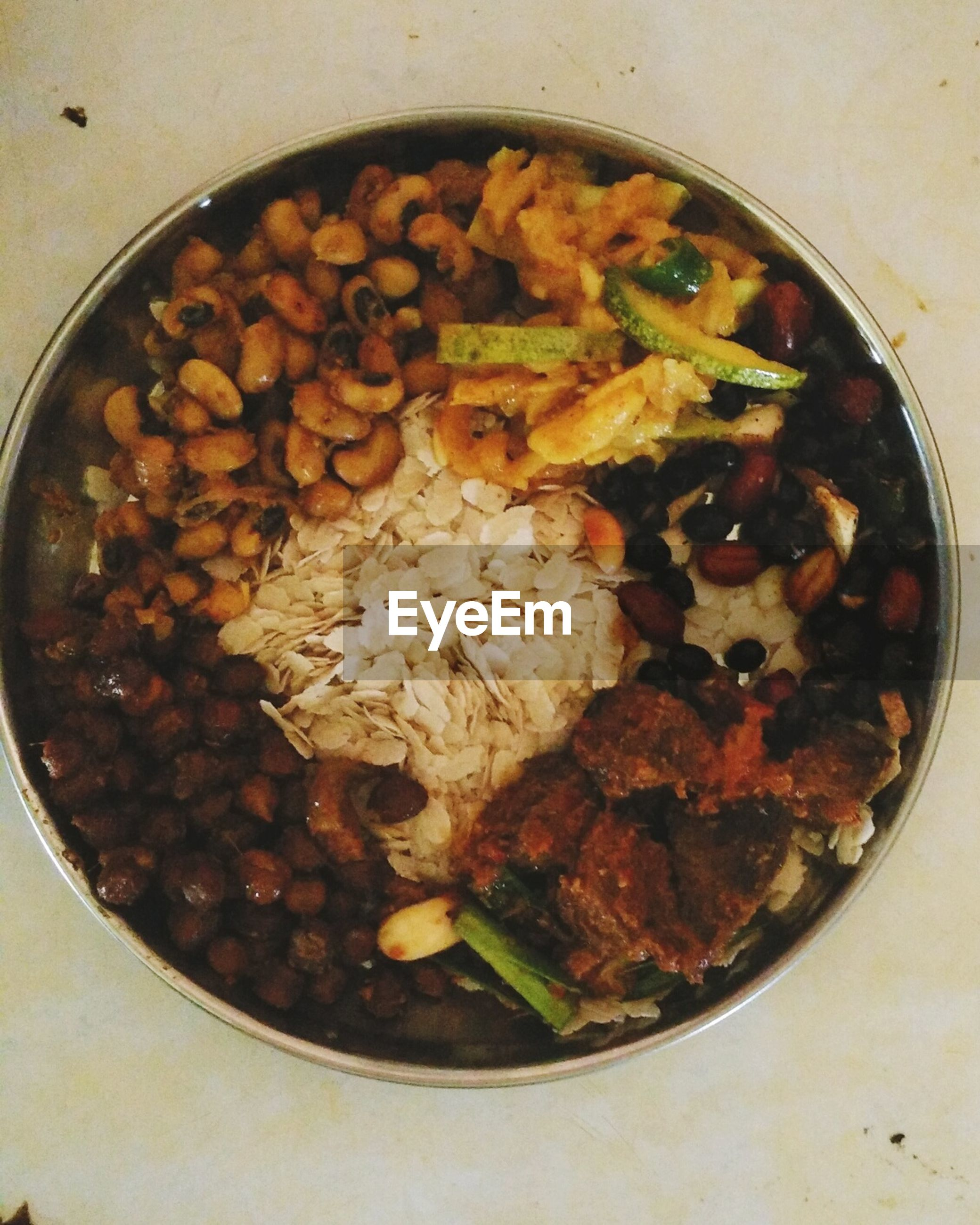 food, food and drink, freshness, indoors, ready-to-eat, healthy eating, meal, still life, high angle view, plate, bowl, close-up, directly above, serving size, meat, vegetable, indulgence, no people, table, seafood