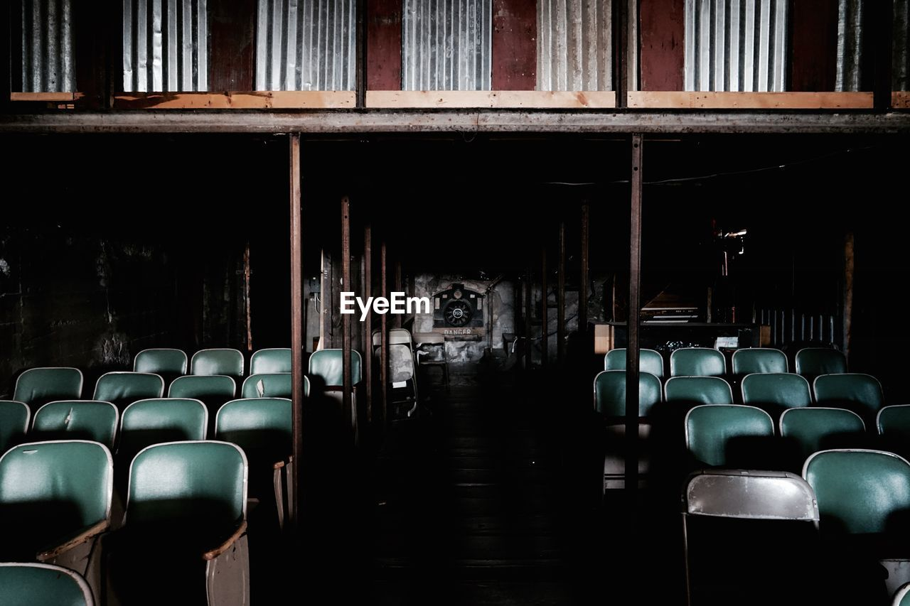 View Of Empty Chairs In Auditorium
