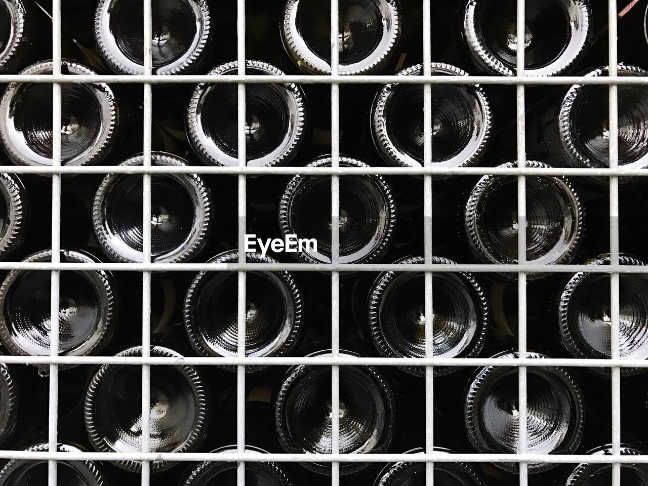 Full frame shot of wine rack