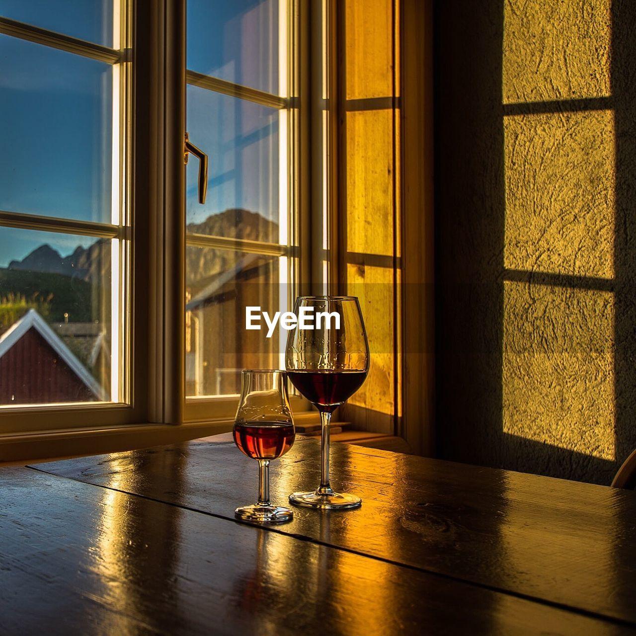 Wineglasses And Window