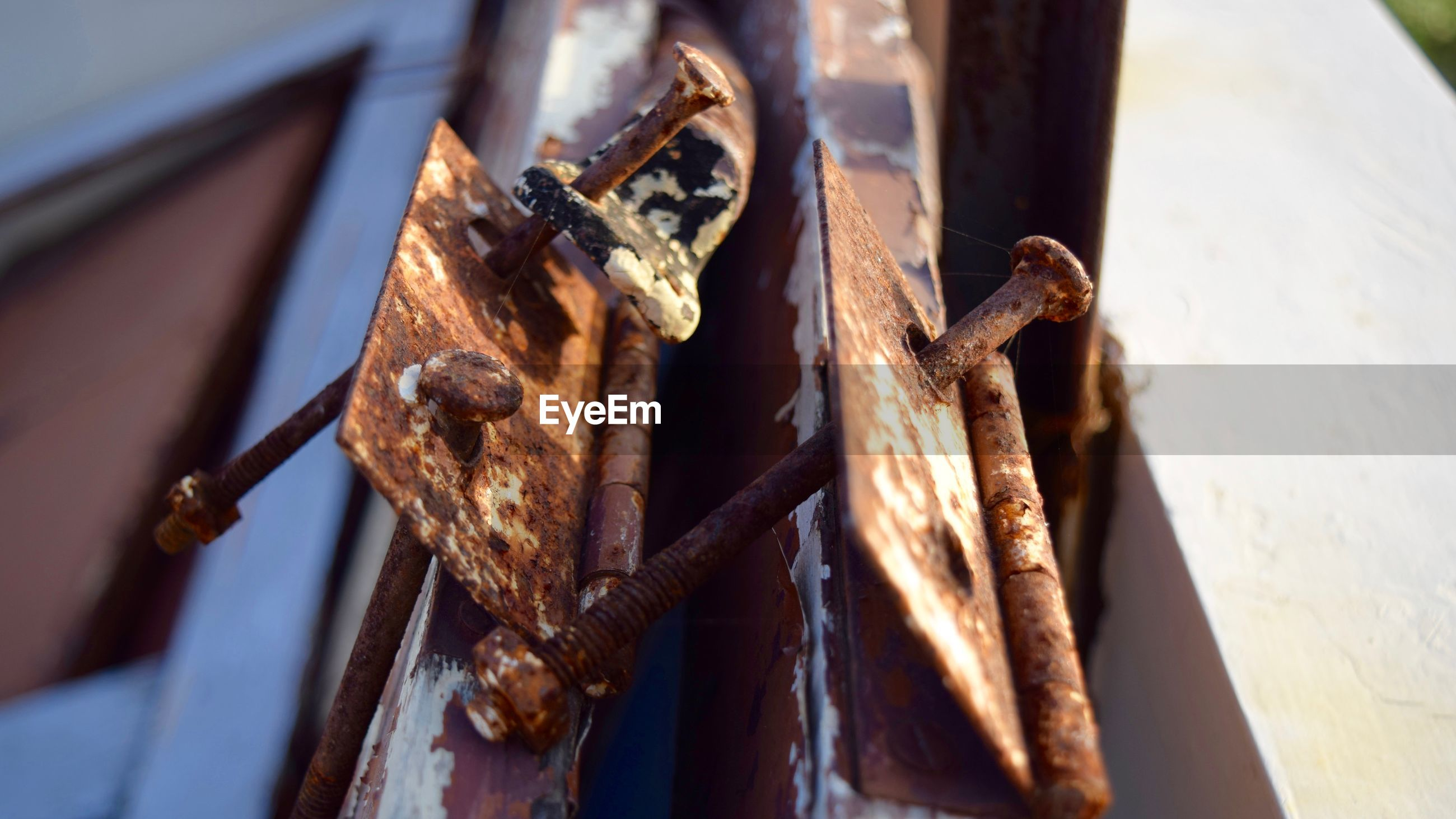 Low angle view of rusty metal