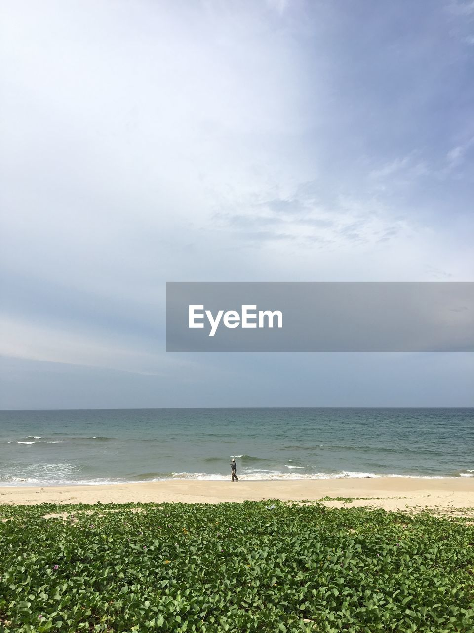 sea, water, sky, horizon, horizon over water, land, scenics - nature, beauty in nature, beach, cloud - sky, nature, tranquil scene, tranquility, day, grass, non-urban scene, leisure activity, green color, idyllic, outdoors