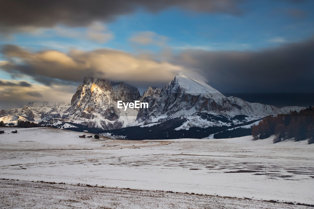 cloud - sky, sky, snow, winter, cold temperature, scenics - nature, beauty in nature, tranquil scene, mountain, tranquility, environment, nature, landscape, water, no people, snowcapped mountain, non-urban scene, idyllic, mountain range, outdoors, ice, mountain peak