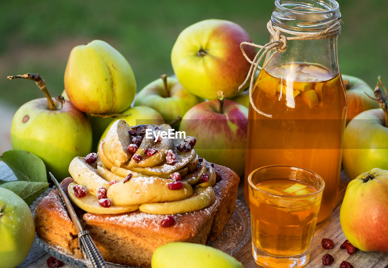 food and drink, food, fruit, healthy eating, freshness, wellbeing, apple - fruit, no people, still life, close-up, table, focus on foreground, ready-to-eat, container, indoors, pear, day, oil, indulgence, yellow, ripe