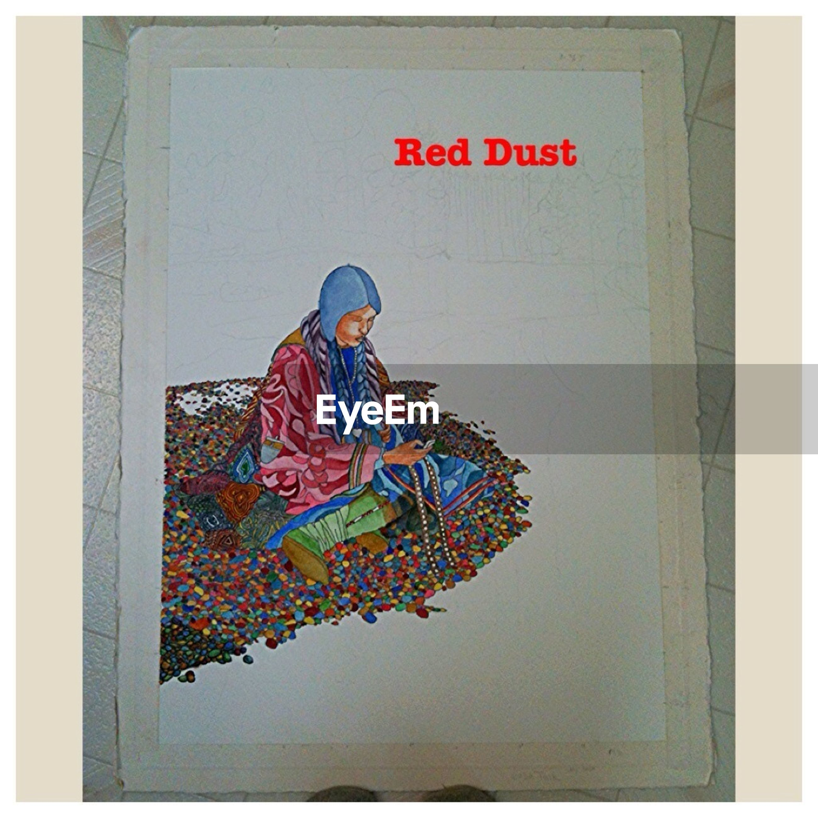 transfer print, text, communication, western script, auto post production filter, wall - building feature, human representation, indoors, art, creativity, art and craft, wall, front view, red, non-western script, graffiti