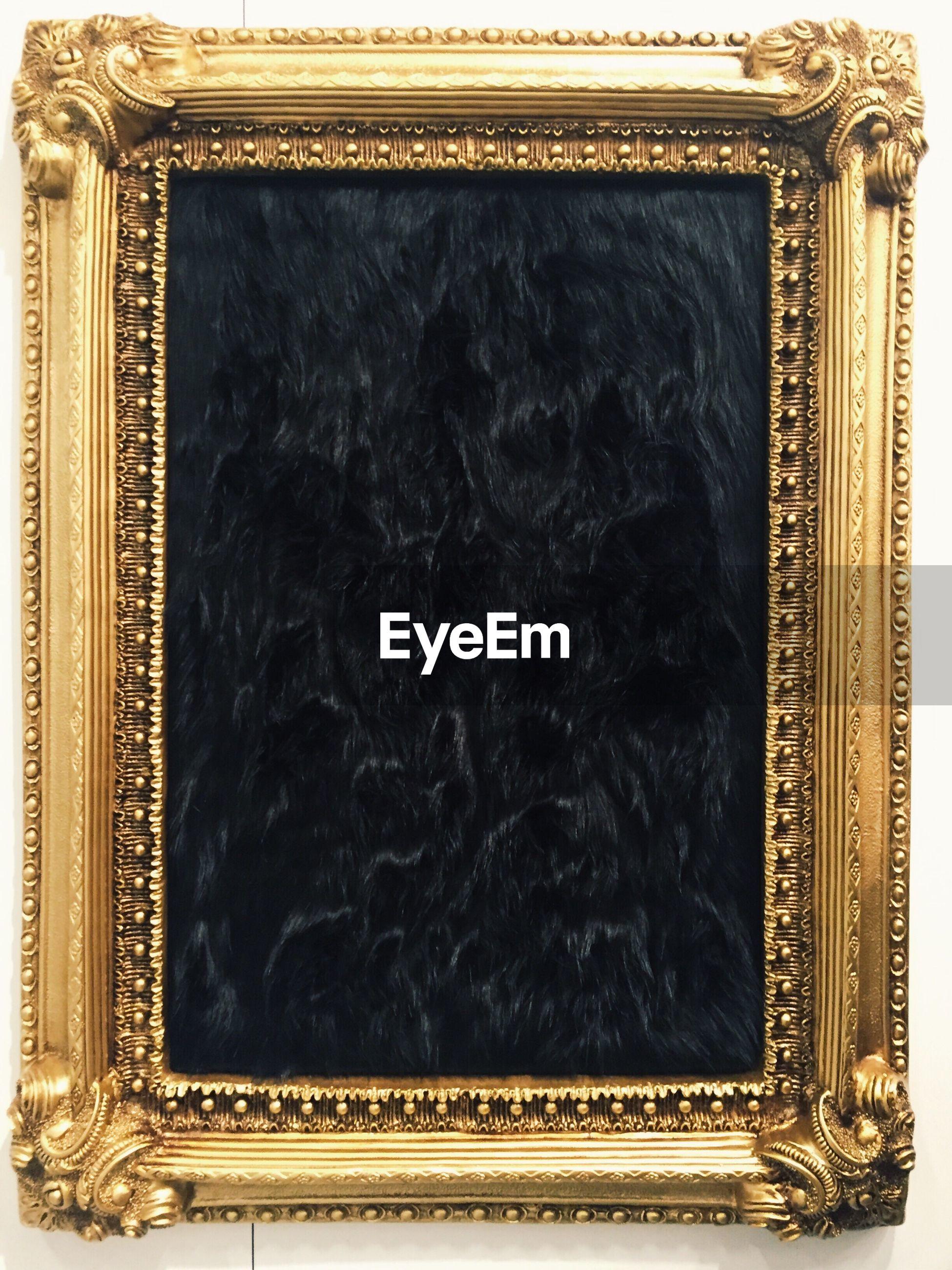 picture frame, studio shot, old-fashioned, black color, no people, black background, close-up, backgrounds, indoors