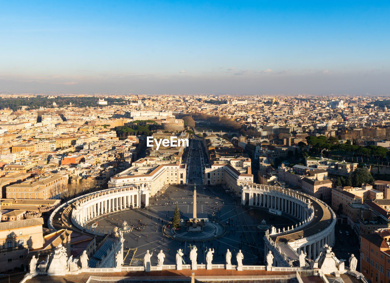 View of rome from the top of st peters basilica