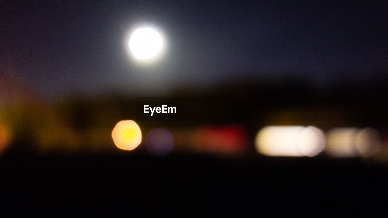 night, illuminated, moon, no people, defocused, outdoors, sky, nature, beauty in nature, close-up