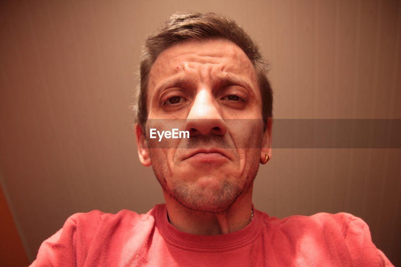 Close-Up Portrait Of Mid Adult Man
