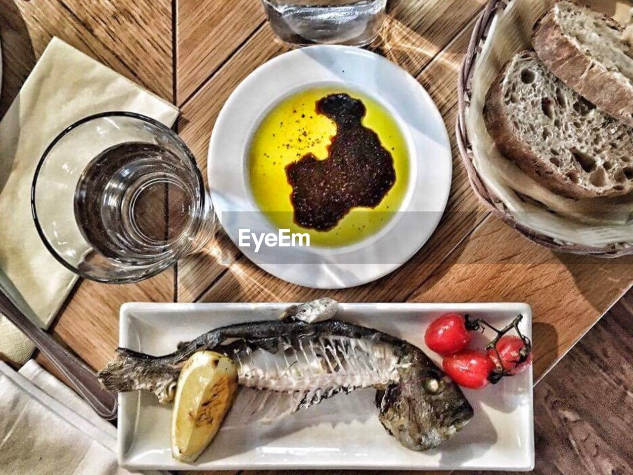 seafood, food and drink, food, fish, plate, freshness, healthy eating, table, directly above, ready-to-eat, no people, indoors, cooked, close-up, day