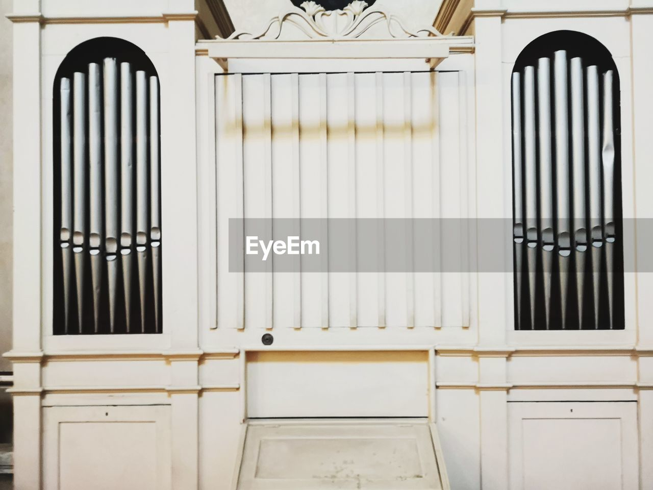 architecture, built structure, no people, building, indoors, window, metal, pattern, day, house, railing, wall - building feature, white color, home interior, safety, security, architectural feature, residential district, wrought iron