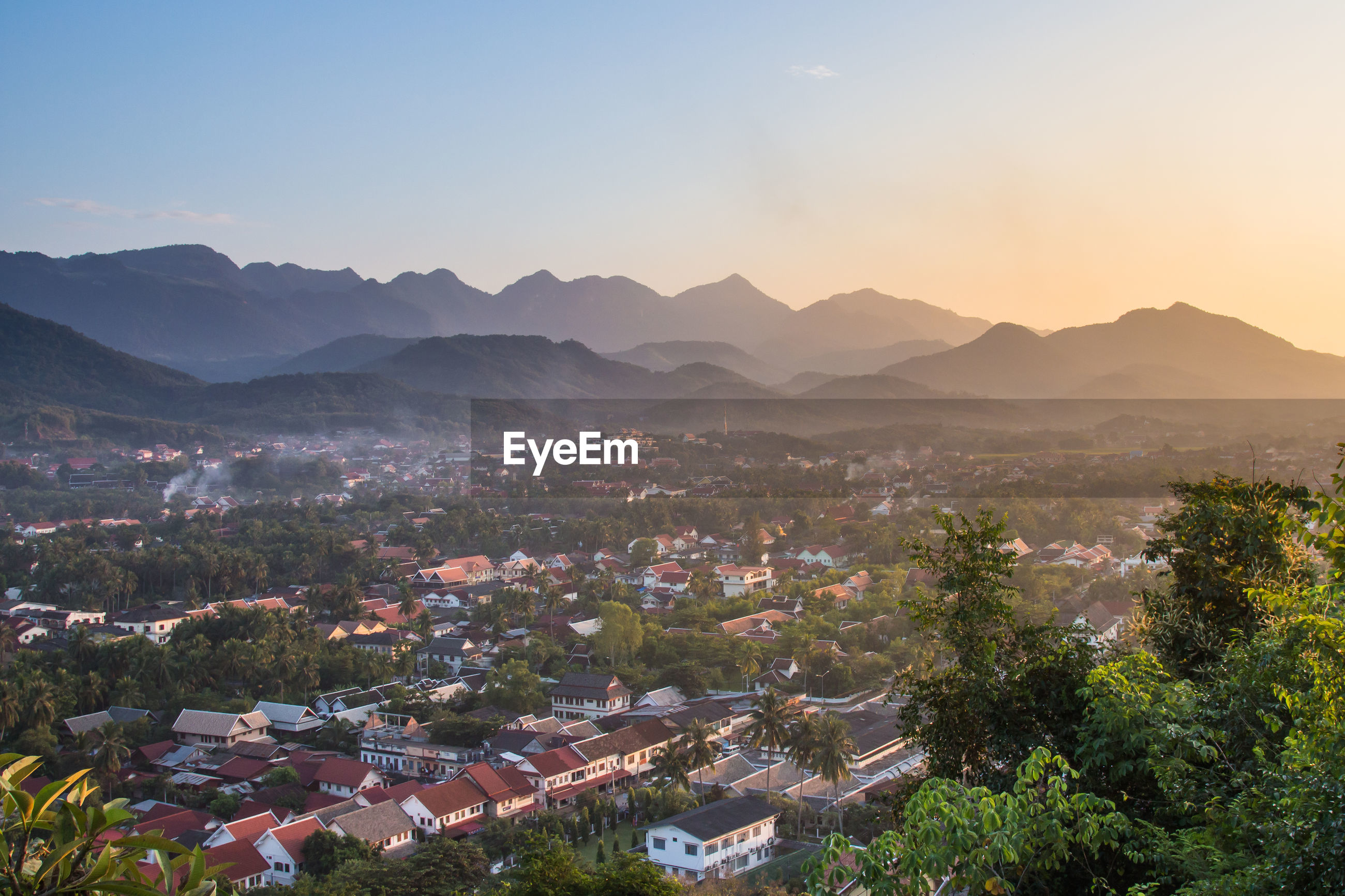 Viewpoint and landscape at luang prabang , laos.