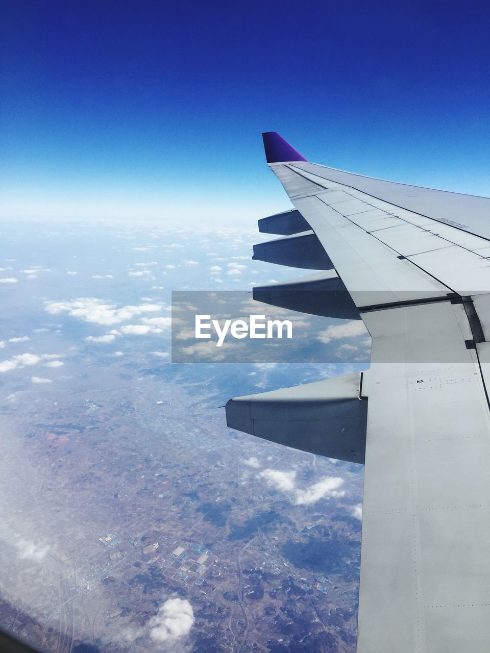 nature, transportation, airplane, journey, airplane wing, blue, sky, beauty in nature, mode of transport, no people, day, scenics, outdoors, aerial view, aircraft wing, air vehicle, flying