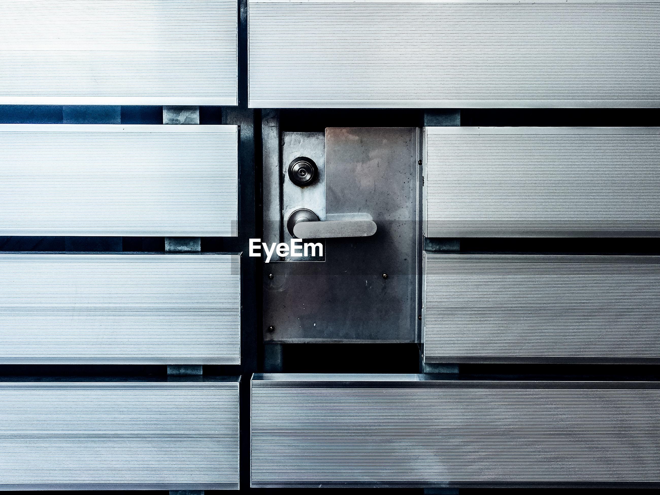 Close-up of locker on wall
