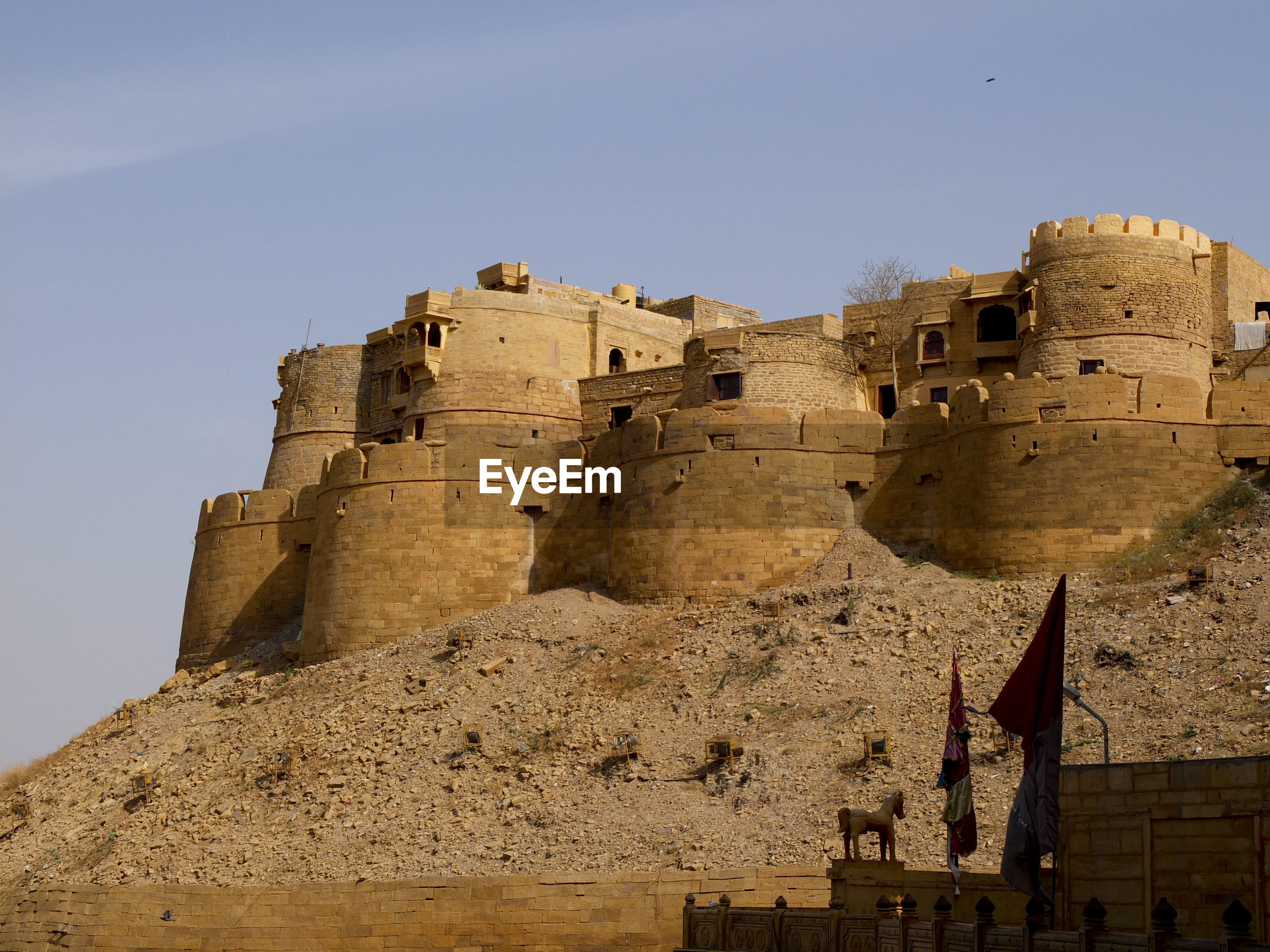 Low angle view of jaisalmer fort