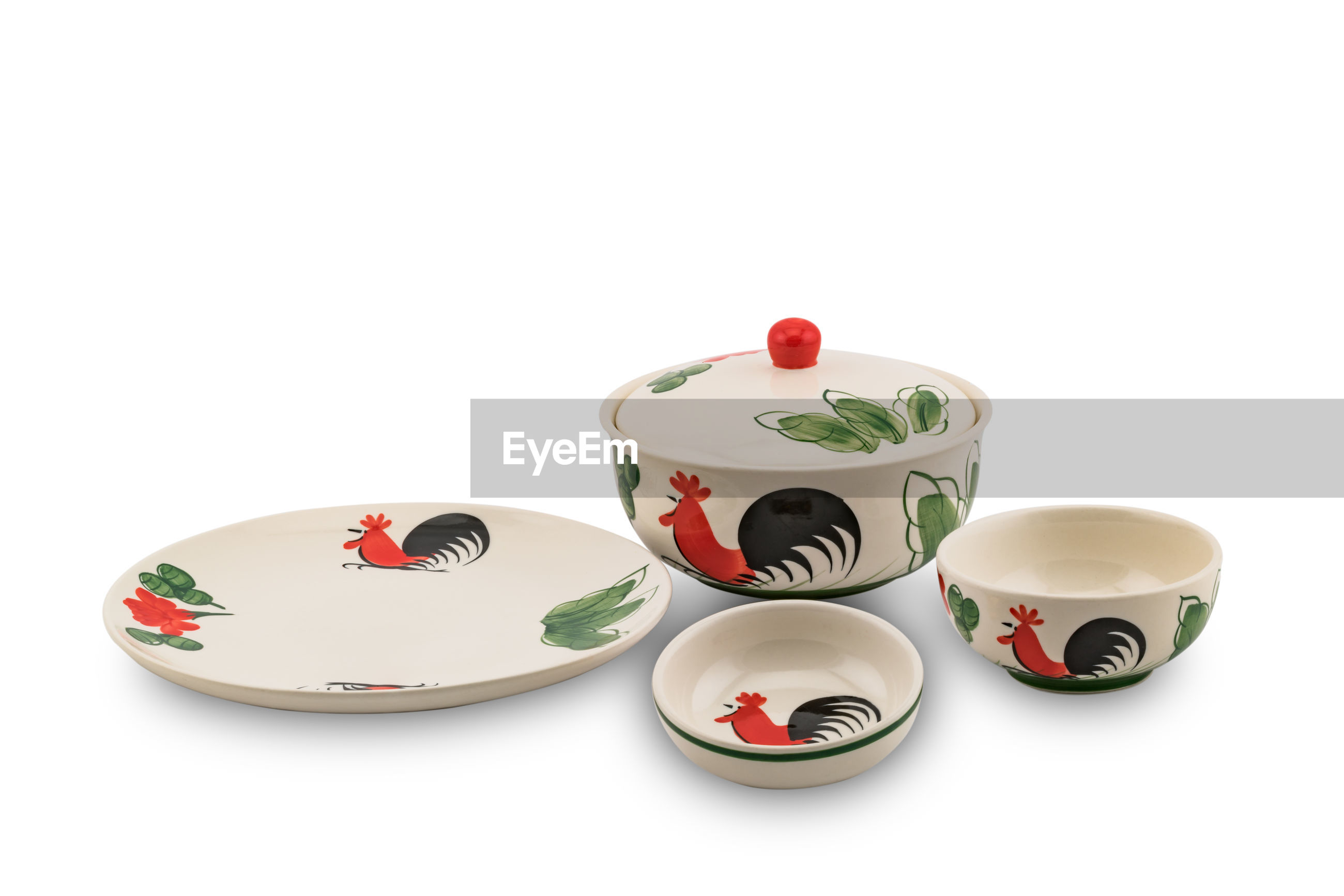 Kitchen utensils against white background