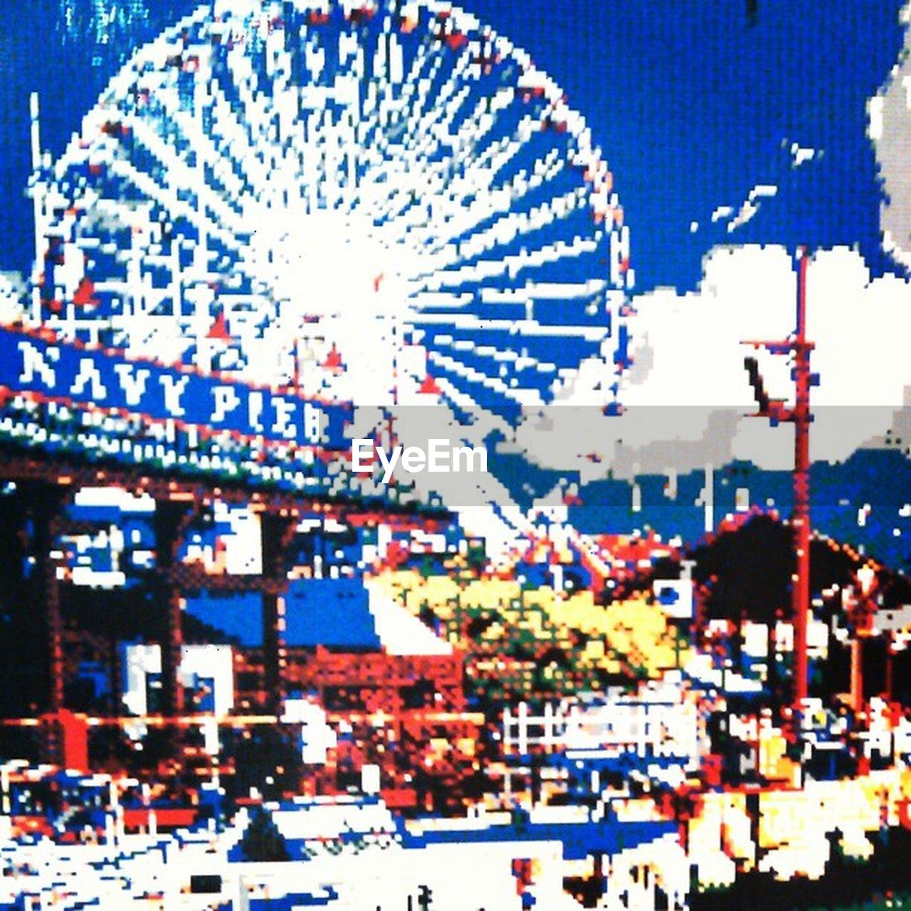 arts culture and entertainment, amusement park, ferris wheel, amusement park ride, blue, illuminated, clear sky, cityscape, night, outdoors, no people, city, sky