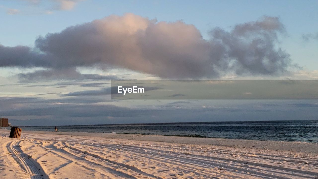 sky, cloud - sky, scenics - nature, land, beauty in nature, sea, tranquil scene, water, horizon, nature, tranquility, beach, horizon over water, no people, outdoors, day, sand, environment, power in nature