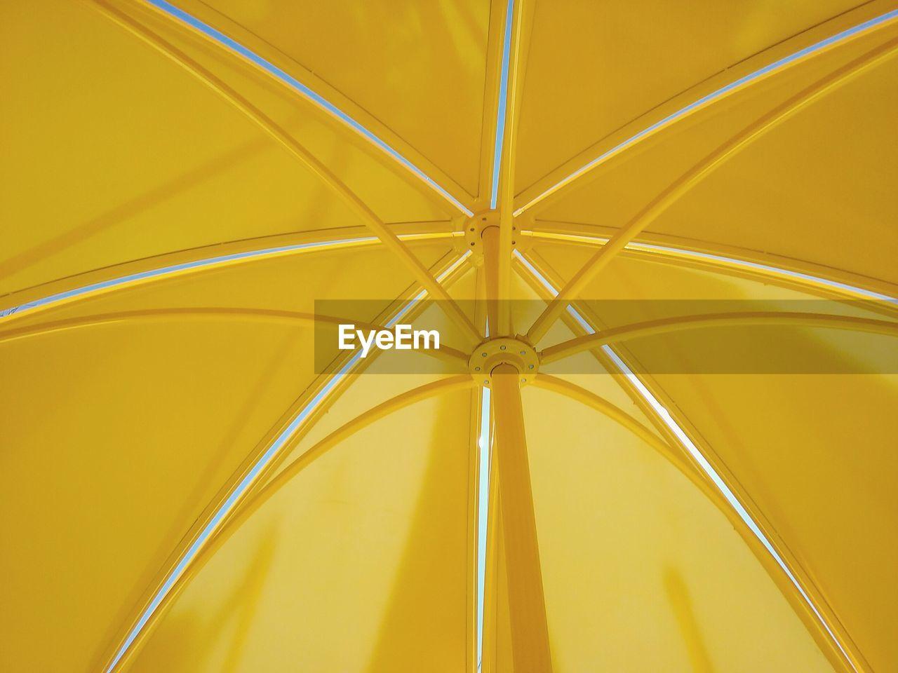 Full frame shot of yellow umbrella