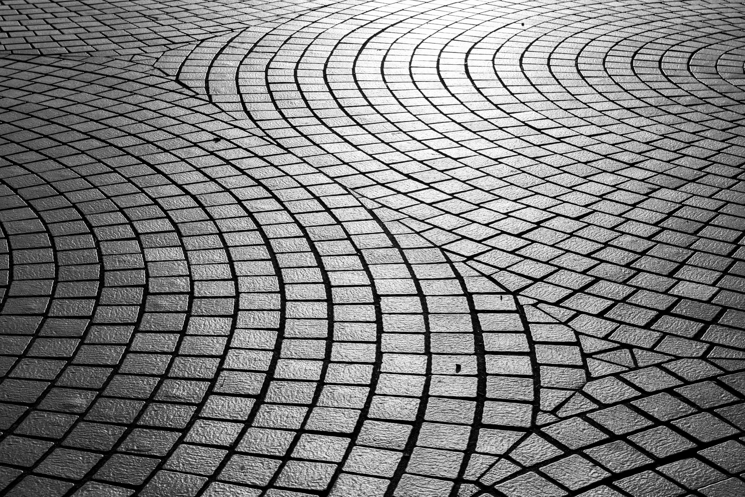 Full frame shot of cobbled footpath