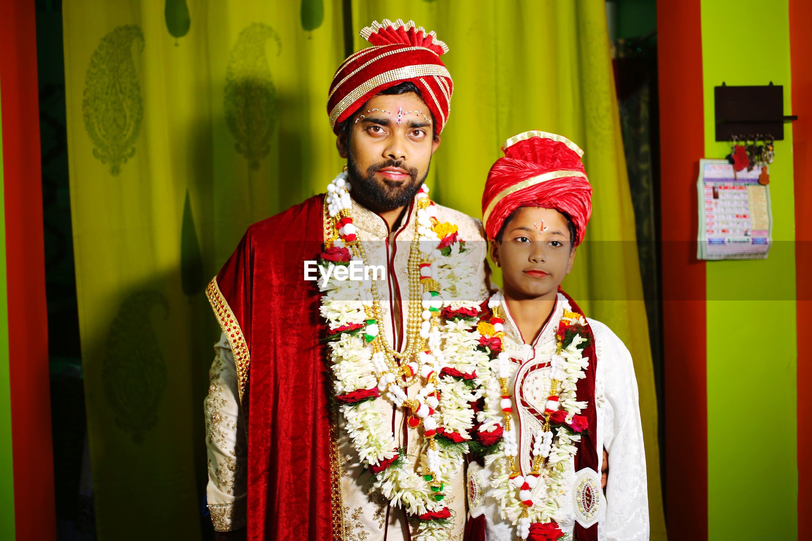 Hindu bride groom with child in same style