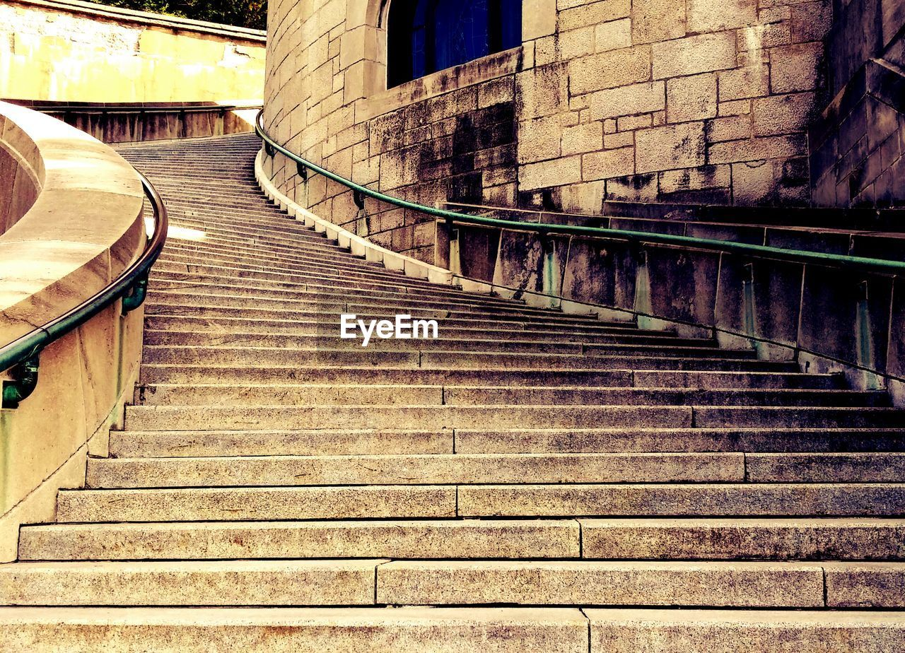 steps, staircase, steps and staircases, architecture, built structure, railing, stairs, no people, building exterior, day, outdoors, hand rail