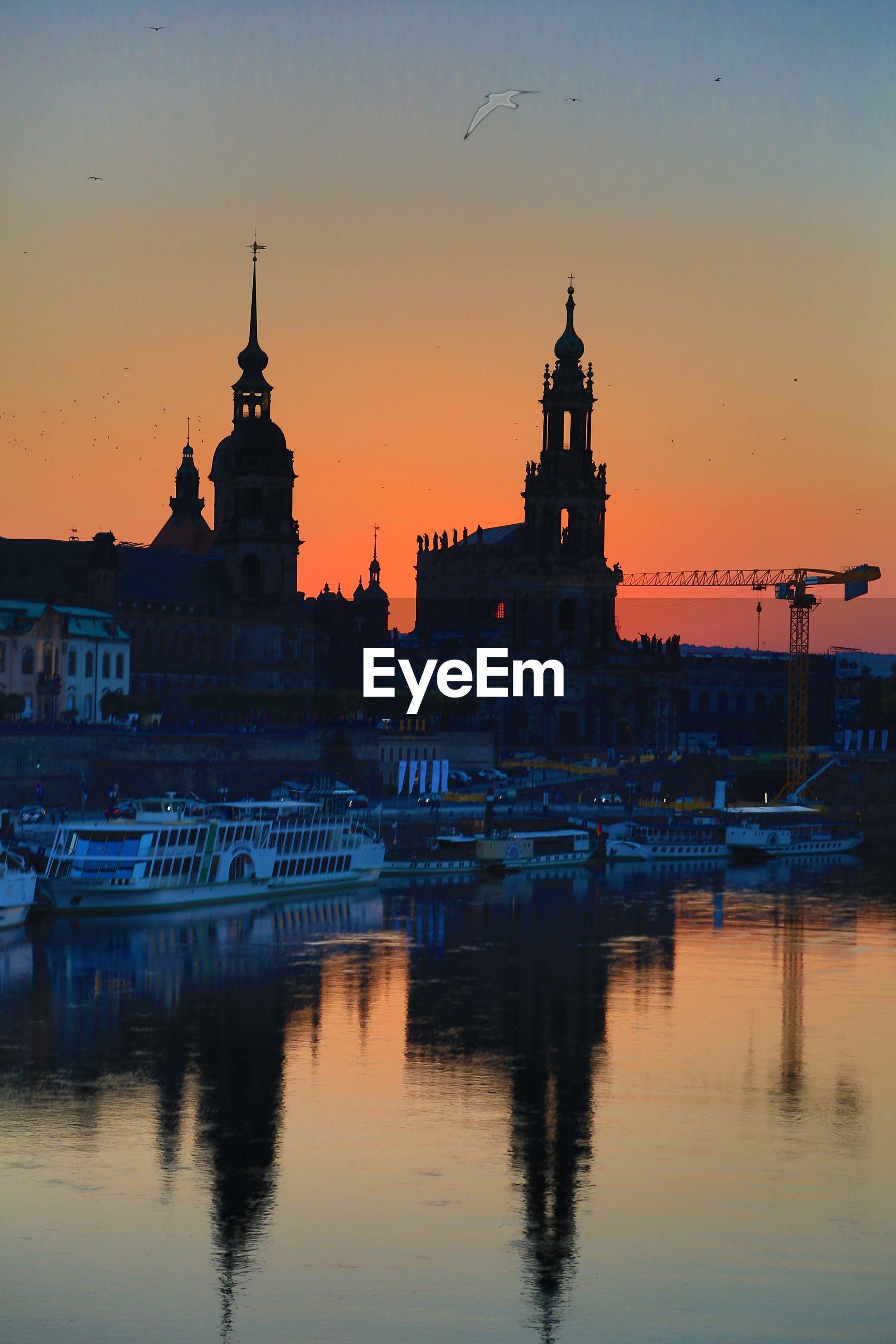 Dresden - orange sky