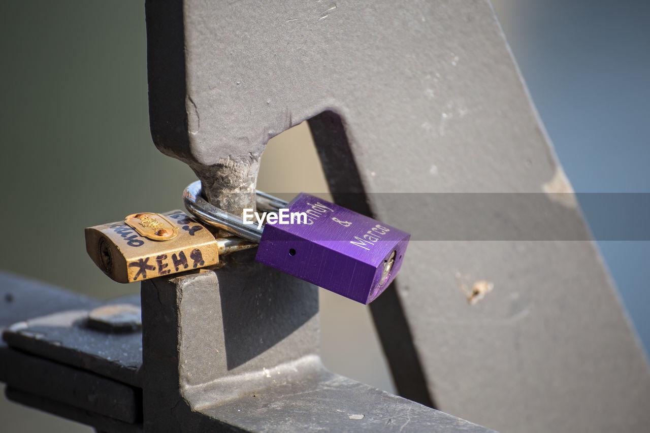 metal, padlock, text, no people, close-up, sunlight, day, lock, love lock, outdoors, hope, water