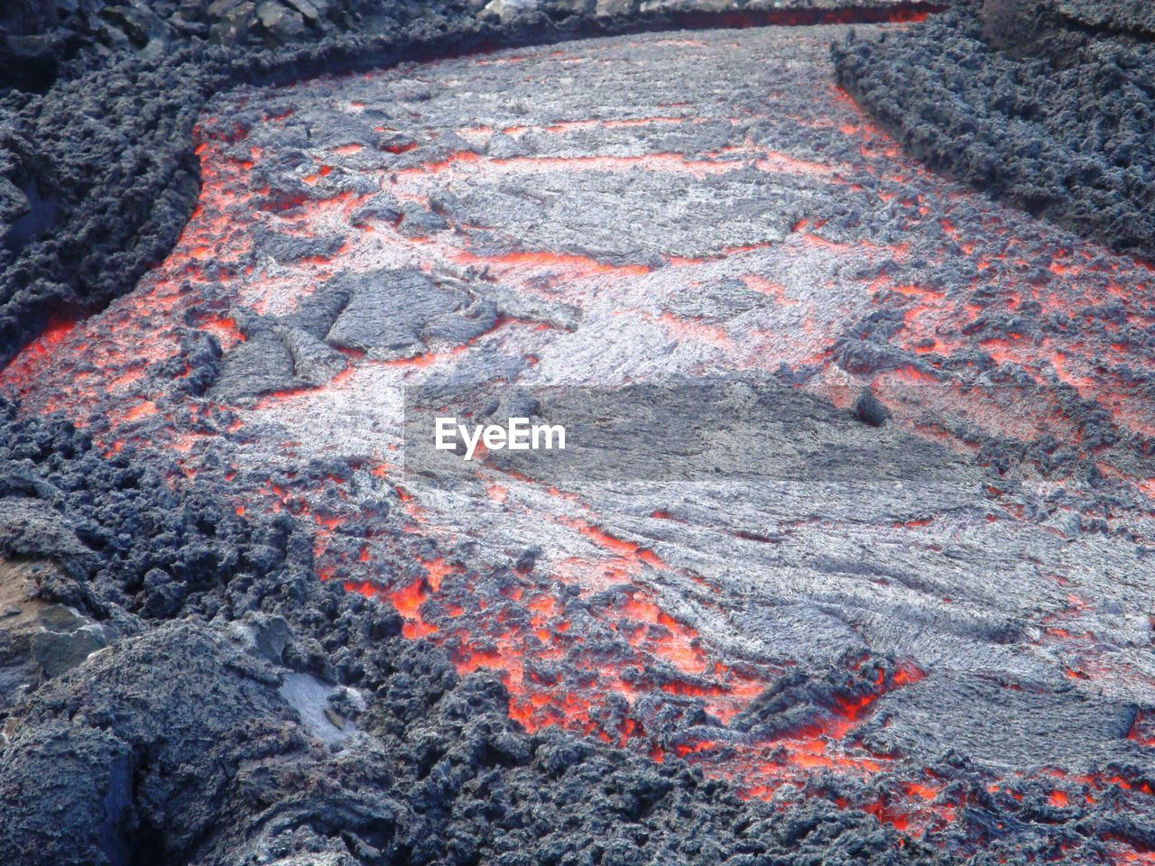 High Angle View Of Lava