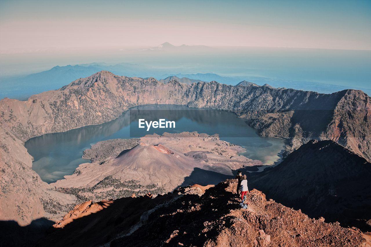 Landscape segara anak lake in mount rinjani lombok
