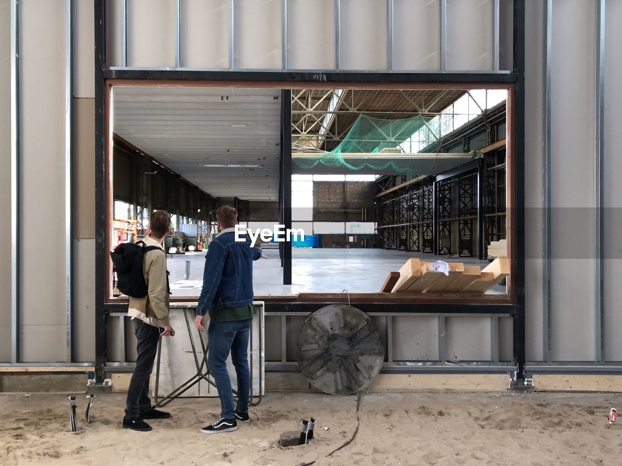 People standing in building