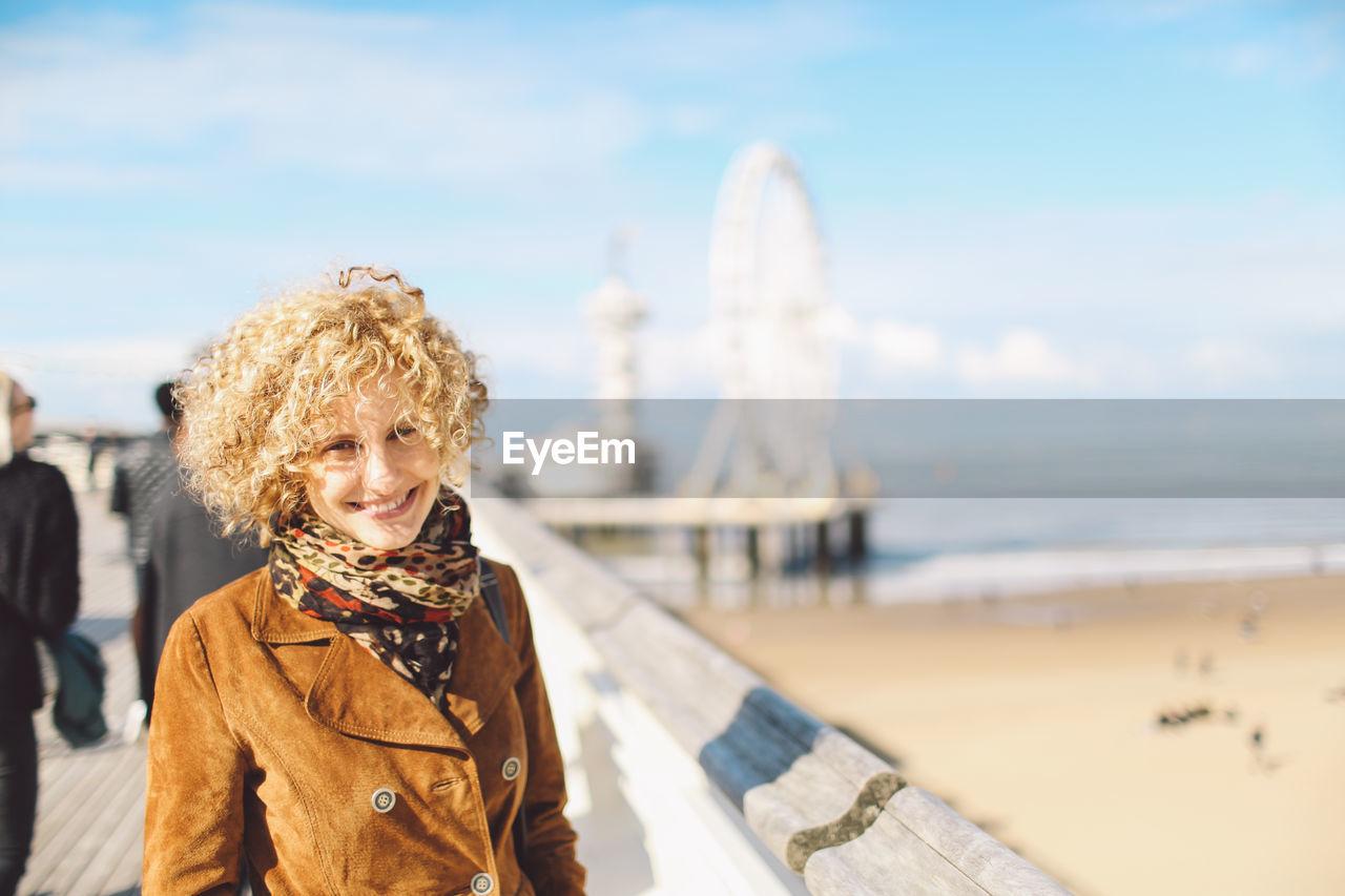 Portrait Of Woman At Seaside