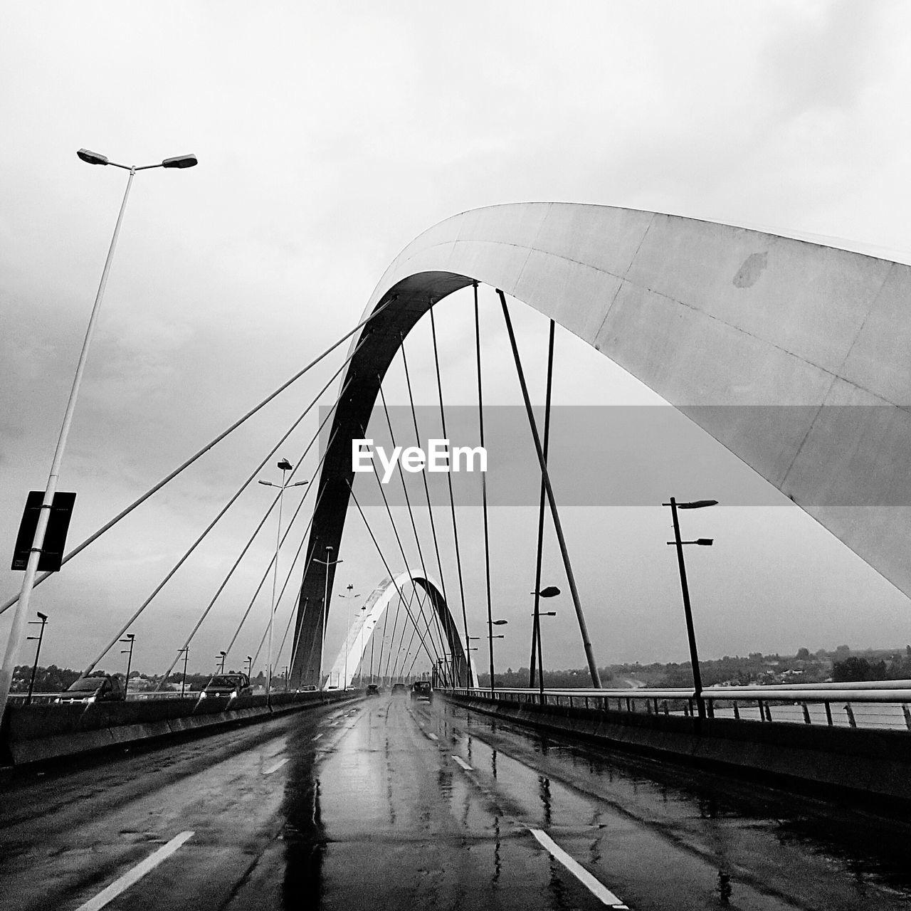 bridge - man made structure, connection, transportation, road, architecture, built structure, sky, day, suspension bridge, bridge, the way forward, outdoors, no people, city