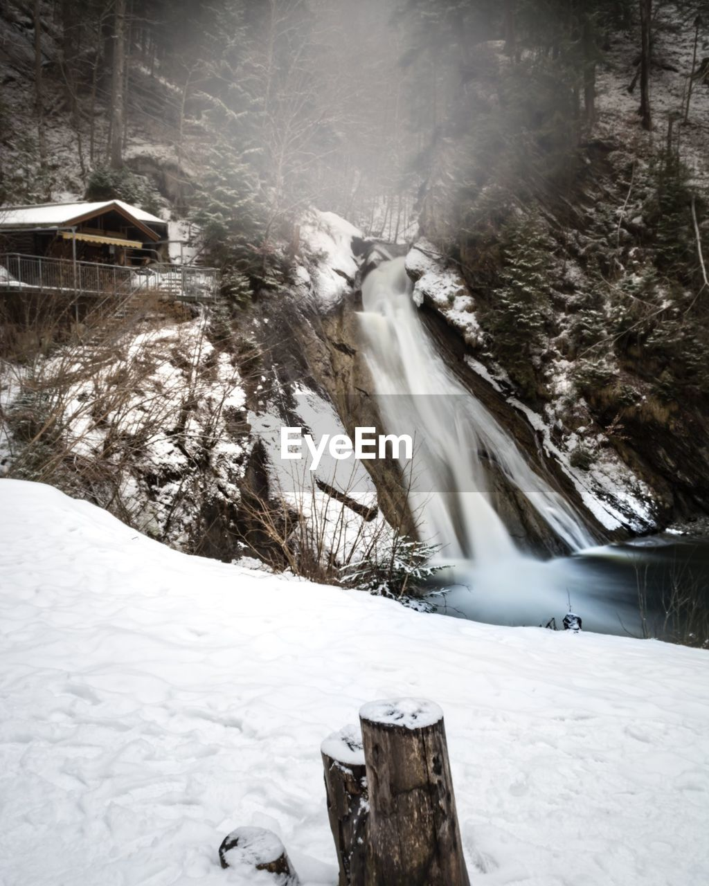cold temperature, winter, snow, nature, water, beauty in nature, waterfall, scenics, motion, no people, outdoors, day, tree