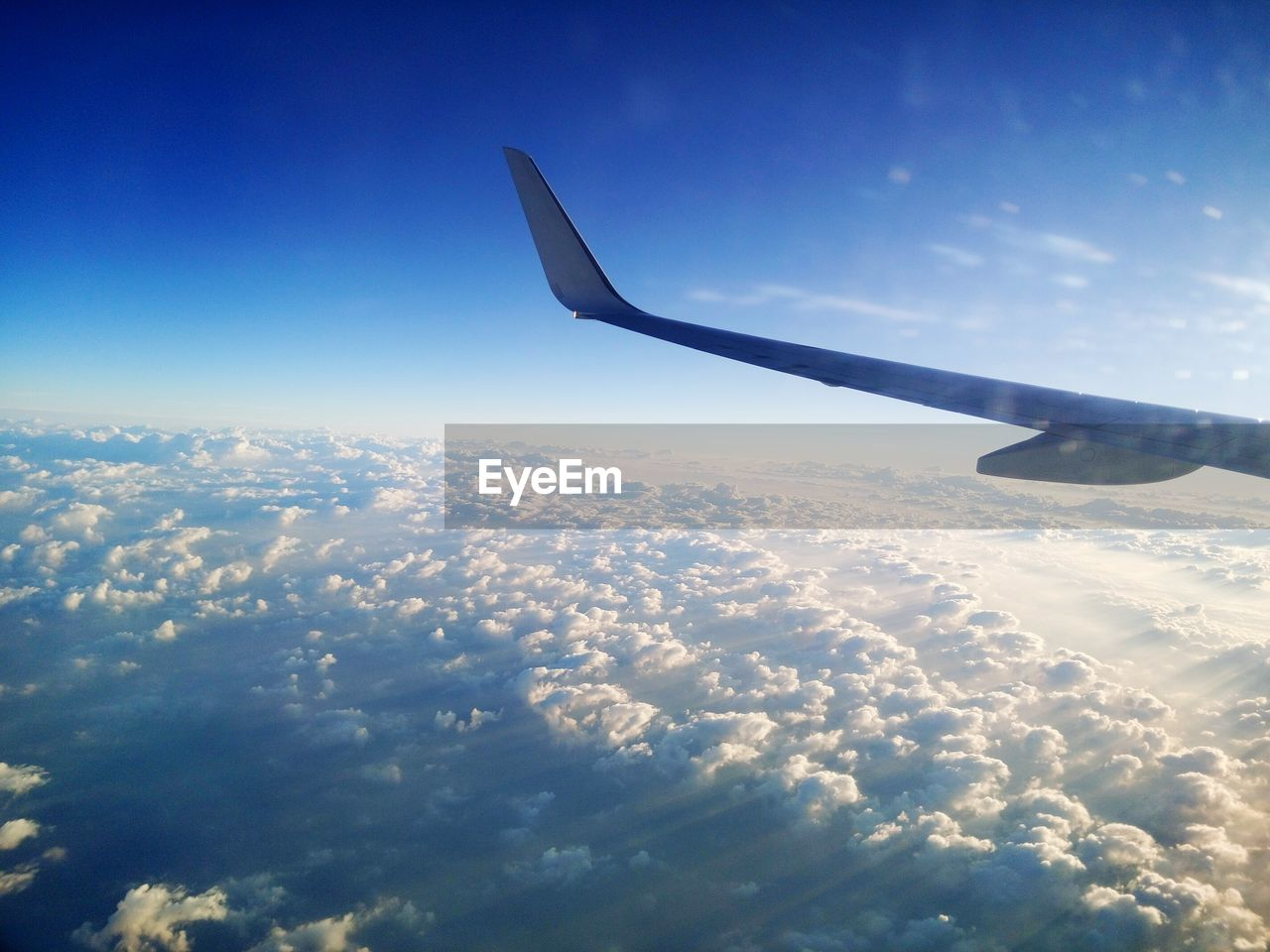 sky, aerial view, nature, beauty in nature, blue, cloudscape, journey, airplane, transportation, scenics, airplane wing, tranquil scene, cloud - sky, travel, tranquility, no people, day, outdoors, mid-air, flying, the natural world
