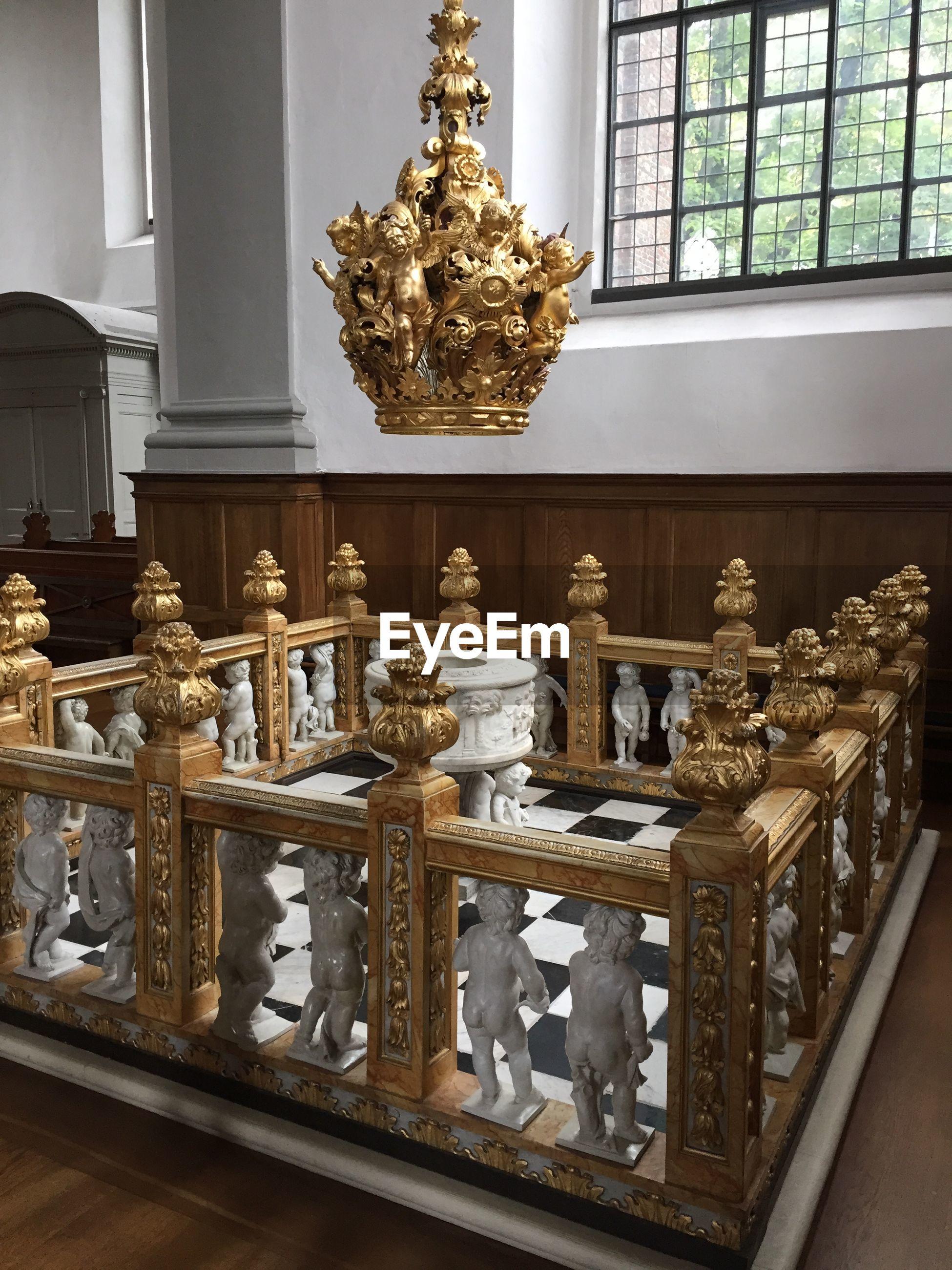 Sculpture of angels at vor frelsers kirke church