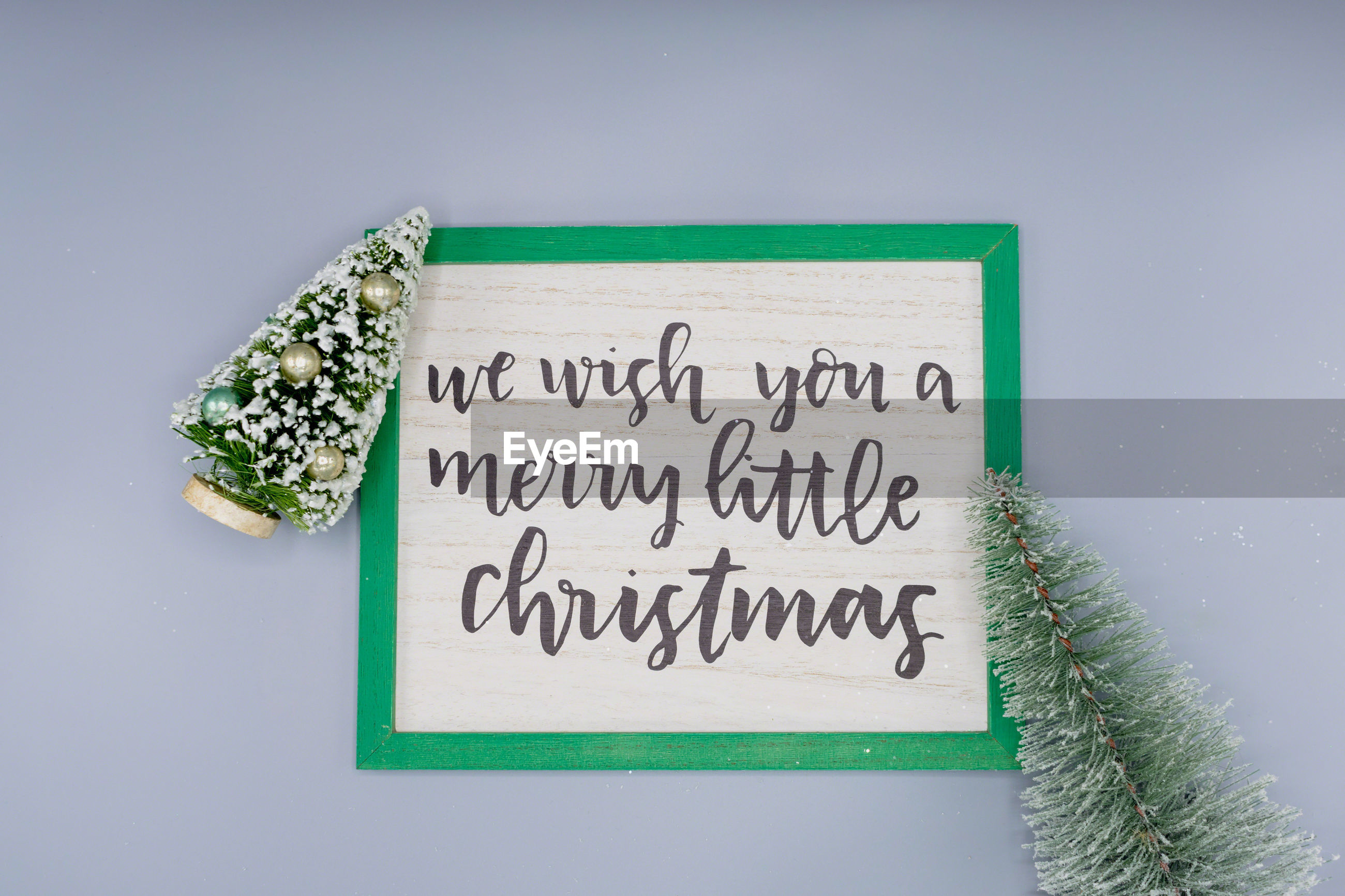 Directly above shot of christmas message on table