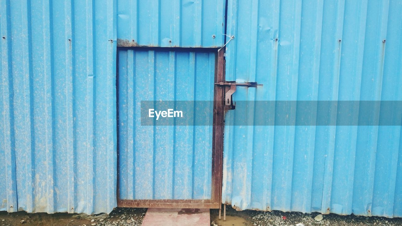 Closed Door At Blue Gate
