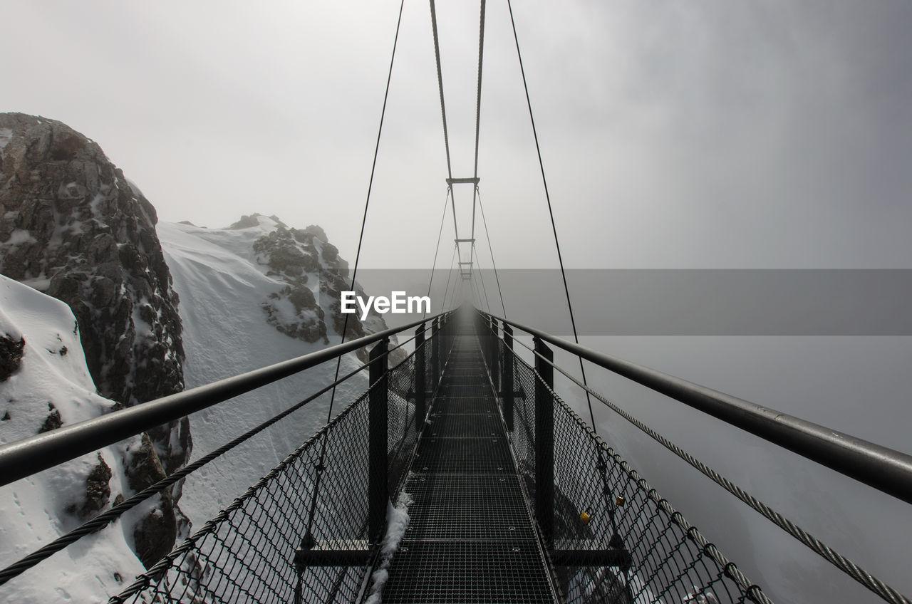 Suspension Bridge Against Sky