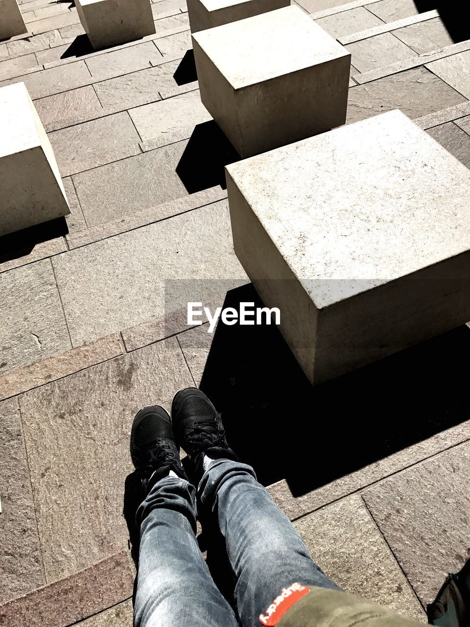 human leg, day, shoe, personal perspective, low section, one person, outdoors, real people, high angle view, human body part, men