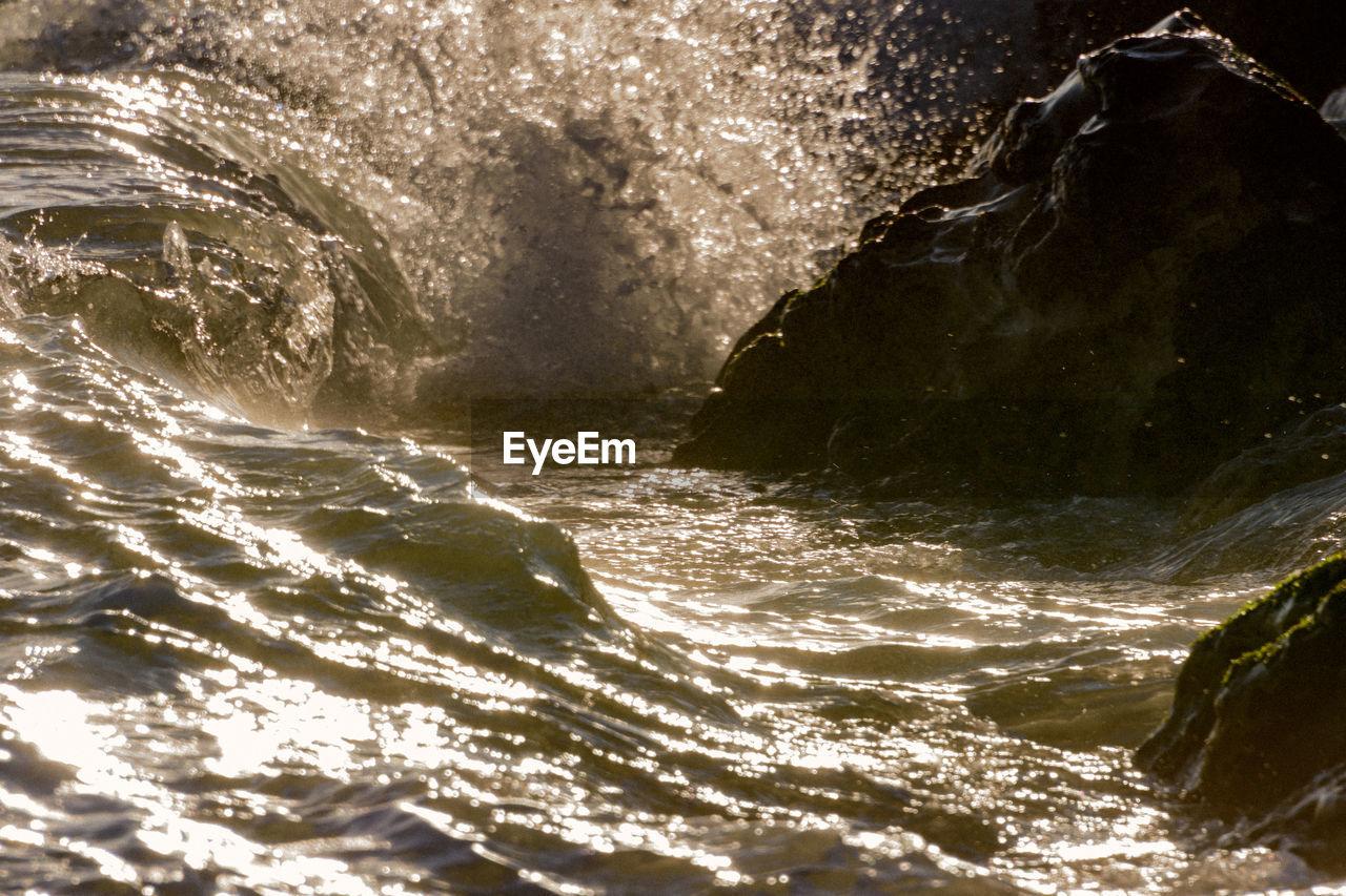 SCENIC VIEW OF SEA WAVE