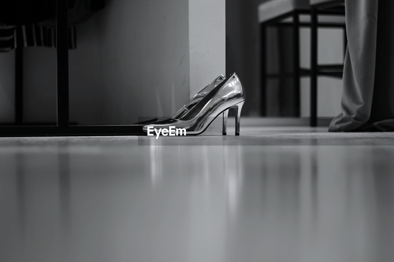 Surface Level View Of High Heel Shoes Indoors
